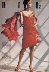 Vogue editorial shot by Steven Meisel 1985 (barbiescanner) Tags: stevenmeisel lenitaoderfaldt editorial vintage retro fashion vintagefashion 80s 80sfashions 1980s 1980sfashions 1985 vogue vintagevogue