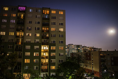 Block of flats in the night (gergely.t.springer) Tags: budapest budaörs hungary magyarország nikon d3500 longexposure night apartment blockofflats flats blocks mood nightmood city sight