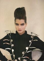 Vogue editorial shot by Sheila Metzner 1985 (barbiescanner) Tags: brookeshields sheilametzner editorial vintage retro fashion vintagefashion 80s 80sfashions 1980s 1980sfashions 1986 vogue vintagevogue