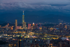 Aerial view of Taipei city skyline (MongkolChuewong) Tags: 101 architecture asia beautiful blue building business capital central china chinese city cityscape destination downtown dusk elephant famous financial icon island landmark landscape metropolis metropolitan modern mountain night orange panorama panoramic sightseeing sky skyline skyscraper streetfood sunrise sunset taipei taipei101 taiwan tower town travel twilight urban view viewpoint xiangshan xinyi
