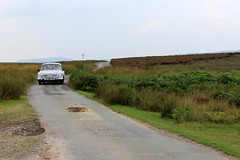 Tatra 603 approaching Pole Bank (Davydutchy) Tags: truk tatra register uk annual rally ironbridge shropshire england greatbritain vk 603 t603 lada wartburg 353 tourist kombi estate car longmynd moors hills valley august 2019