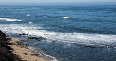 Highish Tide (LeftCoastKenny) Tags: pillarpoint pacificocean water rock beach sand cliff