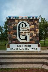 Mile Zero Mackenzie Highway (Bracus Triticum) Tags: grimshaw mile zero mackenzie highway アルバータ州 alberta canada カナダ 8月 八月 葉月 hachigatsu hazuki leafmonth 2019 reiwa summer august