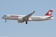 HB-JCI (Baz Aviation Photo's) Tags: hbjci airbus a220300 swiss swr lx heathrow egll lhr 27l lx352