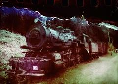 The Ghost Train Phantom (Crusty Da Klown) Tags: kootenays sandon bc britishcolumbia canada ghosttown steamengine ironhorse locomotive railway railroad train phantom ghost scoobydoo mystery tv show cartoon minolta camera kodak film 200