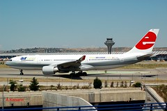 AIR COMET A330 EC-KDF (Adrian.Kissane) Tags: departing aviation taxiway taxing sky outdoors spain airport airliner airline aircraft airbus jet plane aeroplane 823 2262007 a330 eckdf madrid aircomet