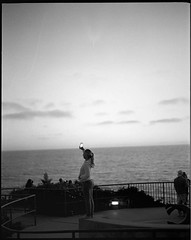 Overlook _ Crescent Bay Point.Pentax 6x7_105mm smc tak. (remy_SloGraFik) Tags: pentax6x7 bwfilmilfordhp5 crescentbaylagunabch sunsets film120