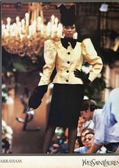 Yves Saint Laurent A/W 1982-3 (barbiescanner) Tags: yvessaintlaurent vintage retro fashion vintagefashion 80s 80sfashions 1980s 1980sfashions 1982 vogue vintagevogue