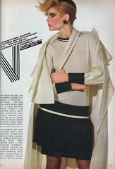 Vogue editorial shot by Irving Penn 1982 (barbiescanner) Tags: irvingpenn editorial lesliewiner vintage retro fashion vintagefashion 80s 80sfashions 1980s 1980sfashions 1982 vogue vintagevogue