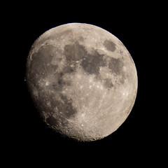 90% Waxing Gibbous Moon (Jonathan Demery) Tags: moon lunar gibbous astronomy astrophotography
