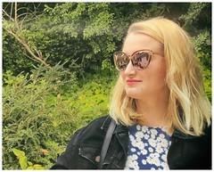 Emma (theimagebusiness) Tags: theimagebusinesscouk theimagebusiness scotland scottishphotographers portrait photography people portfolio pretty attractive beauty creative fashion girls iphone iphoneography modelling naturallight outdoors outdoor photographersinwestlothian uk woman westlothian expression youngwoman shades sunglasses mirrorshades glow summer redlips blond jeanjacket foliage