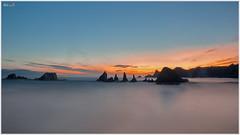 Comenzando el día (Neli Martin) Tags: gueirua asturias españa amanecer mar sol agua playa sunrise sea sun water beach nelimartin ngc