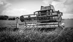 Stainton . (wayman2011) Tags: 7artisans25mmf18 colinhart fujifilmxe2s lightroom5 wayman2011 bwlandscapes mono rural farming harvest combineharvester pennines dales teesdale stainton countydurham uk