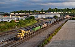 Northbound Transfer in Kansas City, MO (Grant Goertzen) Tags: bnsf railway railroad locomotive train trains atsf santa fe bn burlington northern kcs cefx kansas city missouri transfer yard job emd ge power
