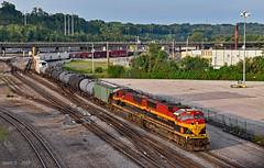 Northbound Transfer in Kansas City, MO (Grant Goertzen) Tags: kcs kansas city southern railway railroad locomotive train trains north northbound yard job transfer freight missouri