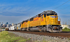 Eastbound Transfer in Kansas City, MO (Grant Goertzen) Tags: up union pacific railroad railway locomotive train trains transfer yard job kansas city missouri east eastbound