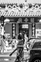 Street photo (HF_Yap) Tags: bw black white chinatown china town malaysia chinese temple street photo photography taoist peopleinframe people frame