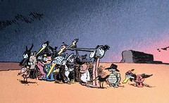 The Cast of Krazy Kat with Ignatz Mouse taking looking off frame 7975 (Brechtbug) Tags: the cast krazy kat with ignatz mouse taking looking off frame cat comic strip newspaper news paper sunday funnies daily comics funny humor satire character syndicate artist george herriman cartoonist pen ink illustration art 2019 screen grab screengrab officer pup
