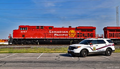 Canadian Pacific Special Agent in Kansas City, MO (Grant Goertzen) Tags: cp canadian pacific railroad railway special agent police cop ge engine power locomotive freight manifest kansas city missouri patrol vehicle