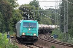 185 618 Nikolassee 15-08-2019 (vorstadtjazz) Tags: güterzug kesselzug eisenbahn bahnhof bahn nikolassee br185 zehlendorf
