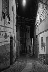 Tender is the night (lebre.jaime) Tags: portugal beira covilhã architecture nocturnal nightphotography street houses digital ff fx fullframe nikon d600 voigtländer nokton 58f14sliis nokton5814sliis affinity affinityphoto bw blackwhite noiretblanc nb pretobranco pb ptbw