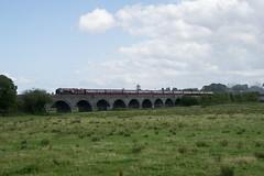 The Duchess passing Langport (philwakely) Tags: 6233 46233 lms duchessofsutherland viaduct steamlocomotive steam mainlinesteam railway railtour westsomerset