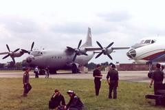 2105 1407 IAT Fairford 17 July 1991 (ACW367) Tags: 2105 antonov an12bp 1407 tupolev tu134 czechoslovakairforce iat fairford