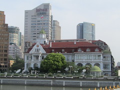 Russian consulate in Shanghai (VERUSHKA4) Tags: china canon asia ville city cityscape shanghai architecture may building travel spring ciel sky vue view outdoors roof flag russian window fenetre river quai decor balcony facade water astoundingimage