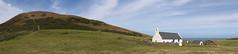 Mwnt Panorama (Treflyn) Tags: foel y mwnt eglwys grog church holy cross national trust cardigan ceredigion wales coast sea