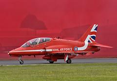 Red Arrow Hawk T1 (np1991) Tags: royal international air tattoo riat 2019 airshow raf fairford england united kingdom uk nikon digital slr dslr d7200 camera nikor 70200mm 70 200 vibration reduction vr f28 lens aviation planes aircraft force bae hawk t1 red arrows reds