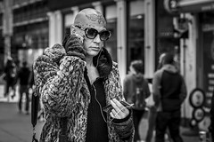 Individuality (Leanne Boulton) Tags: urban street candid portrait portraiture streetphotography candidstreetphotography candidportrait streetportrait streetlife character characterportrait man male face expression emotion mood feeling individual alternative fashion style stylish fur furry coat sunglasses bald fingernails tattoo tone texture detail depthoffield bokeh naturallight outdoor light shade city scene human life living humanity society culture lifestyle people canon canon5dmkiii 70mm ef2470mmf28liiusm black white blackwhite bw mono blackandwhite monochrome glasgow scotland uk
