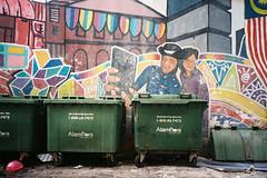 (Hem.Odd) Tags: malaysia kualalumpur garbage graffiti wallpainting asia dirty colorful fujifilm xtra800 expired olympusxa3