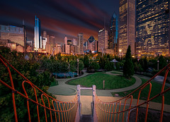 Maggie Daley Playground (ADW44) Tags: chicago playground millenniumpark skyline skyscrapers buildings sky windy city sonya7iii sonyalpha