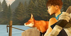 A pensive boy (mikebastlir) Tags: secondlife virtual world boy childhood young photographer poor pensive thoughtful thinking human being fox tweenster