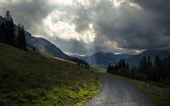 Sky opens up (Netsrak) Tags: österreich europa europe vorarlberg gemeindemittelberg light mountain mountains alps berg clouds way licht path wolken berge alpen weg gebirge kleinwalsertal