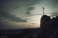 """Stone-Hill"" Budaörs, by night 02 / Kő-hegy (gergely.t.springer) Tags: nikon d3500 hungary budaörs stone hill sunset cross hope"