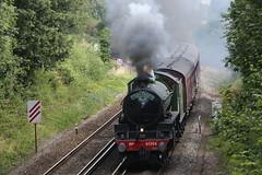 61306 with 1Z61 at Bursledon 15/8/19 (Ewan's rail pics) Tags: 61306 mayflower steamtrain 1z61 thecathedralsexpress railtour wcrc westcoastrailwaycompany 47802 bursledon