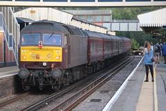 47802 on 1Z64 at Fareham 15/8/19 (Ewan's rail pics) Tags: wcrc westcoastrailwaycompany class47 47802 1z64 thecathedralsexpress railtour fareham 61306 mayflower