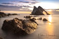 Bow Fiddle Sunrise! (Nathan J Hammonds) Tags: bow fiddle rocks scotland uk portknockie sea seascape long exposure nikon d850 lee filters sunrise sun water summer smooth coast rock