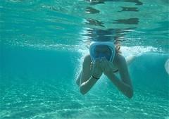 Underwater fun (Dumby) Tags: underwater portrait children fun summer travel lesvos greece hellas sea aegean chrissiammosbeach lesvosbestbeach