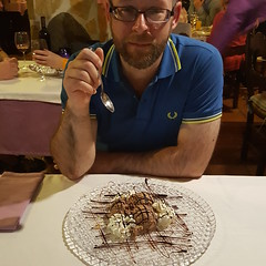 20161108_205158 (rugby#9) Tags: chocolatemousse mousse restaurant food plate cream sauce chocolate table dessert spain andalucia costadelsol fuengirola glassplate people chairs tables shirt fredperry fredperryshirt blue bluefredperry bluefredperryshirt poloshirt fredperrypoloshirt