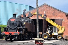 """LMS/NCC WT Class 2-6-4 """"Jeep"""" (No. 4) at Whitehead Railway Museum, August 2019 (Photos by Nathan Lawrence) Tags: rpsi lms ncc wt class steam locomotive train trains whitehead railway museum coal portrush flyer"""