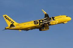 N622NK spirit A320-232SL at KCLE (GeorgeM757) Tags: spirit a320232sl aircraft aviation airplane airport airbus kcle georgem757 canon70d n622nk