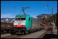 Lineas 2821, Schwarzach St. Veit 02-04-2018 (Henk Zwoferink) Tags: lineas lna henkzwoferinkalphatrains ee euroexpress railexperts 2821 bombardier traxx 186 br186 rxpschwarzachimpongausalzburgaustria