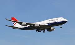 Classic Scheme (Treflyn) Tags: ba british airways boeing 747 744 747400 gcivb wearing classic 1970s negus scheme celebrate 100 years original final approach runway 09l london heathrow airport