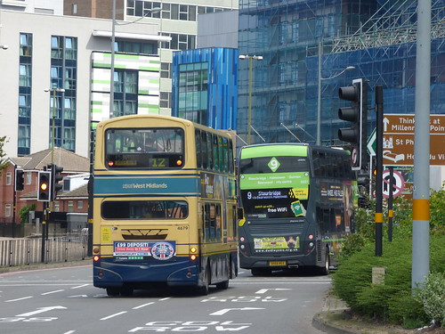 NXWM bus on the 12 in West Bromwich Corporation livery