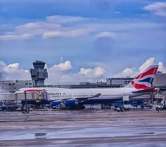 British Airways G-CIVO  - Flght BA207 LHR-MIA (marcocaretta) Tags: britishairways ba miami miamiinternationalairport boeinglovers boeing b747 b744 747400 airportlife airport photoshopexpress photograph photographer photoshop samsunggalaxy samsung note8