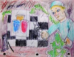 These Enduring Rains (giveawayboy) Tags: pen pencil coloredpencil crayon drawing sketch art painting fch tampa artist giveawayboy billrogers dream rainy rain edgar eraser erasure
