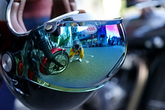 Greetings from TheMotoSocialVANCOUVER (Eric Flexyourhead) Tags: vancouver canada britishcolumbia bc ontariostreet themotosocialvancouver motorcycle motorbike bike helmet motorcyclehelmet visor mirror reflection selfie mirrorselfie shallowdepthoffield bokeh sonyalphaa7 zeisssonnartfe55mmf18za zeiss 55mmf18