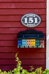 151 Gower Street (Karen_Chappell) Tags: number house home mail post mailbox jellybeanrow rowhouse stjohns city urban wood wooden downtown paint painted red green orange yellow blue colours colors color colour colourful multicoloured sign newfoundland nfld canada eastcoast avalonpeninsula atlanticcanada art building architecture